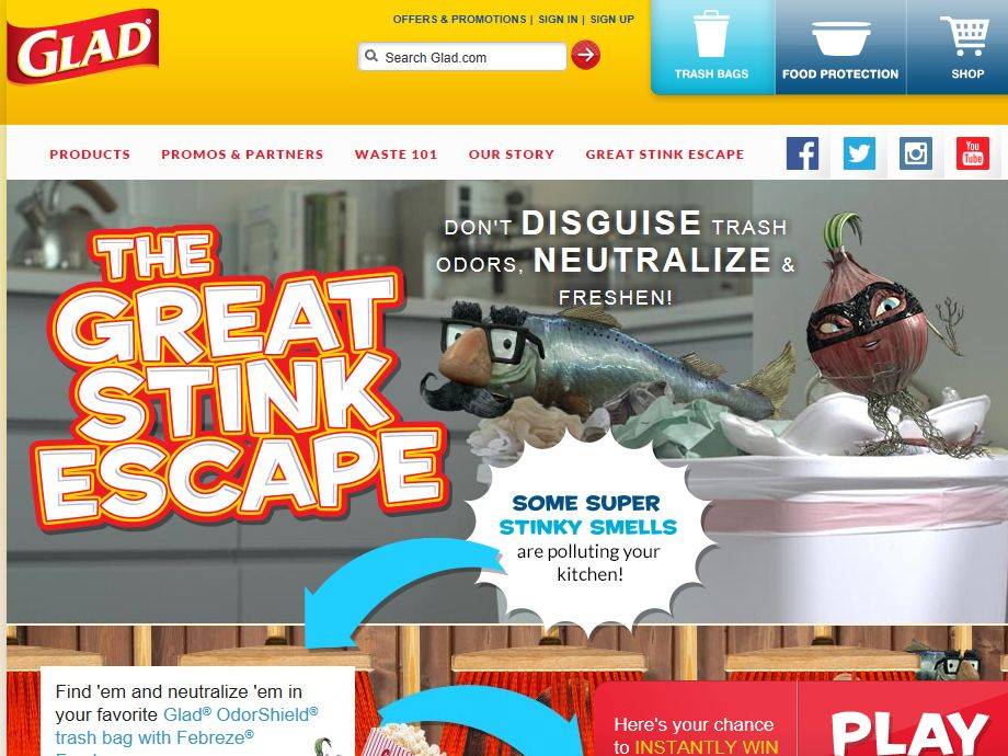 GLAD OdorShield Great Stink Escape Sweepstakes