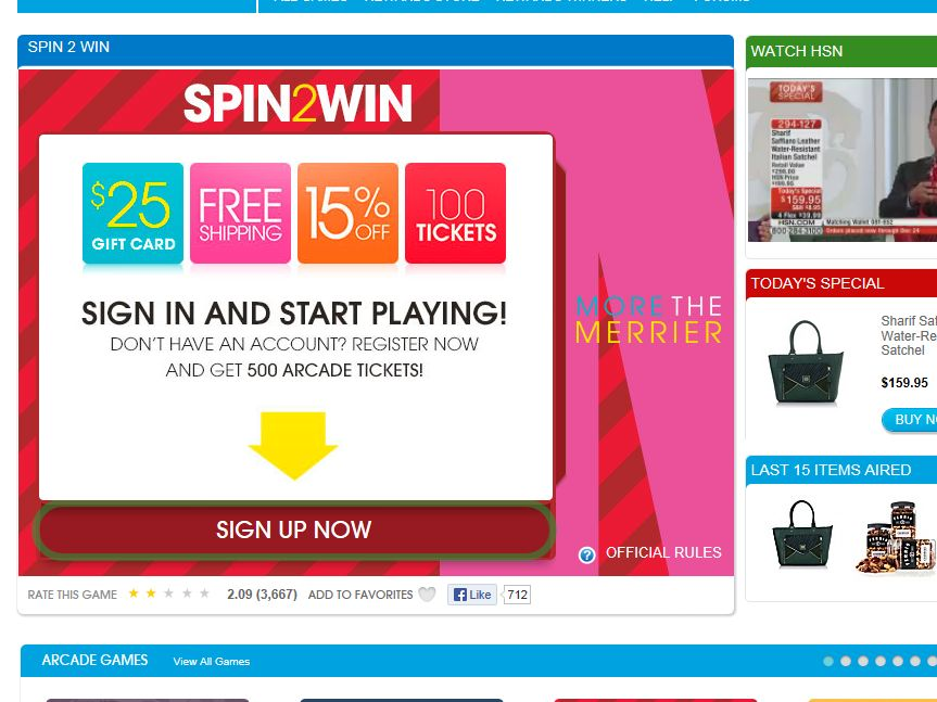 Spin2Win Sweepstakes