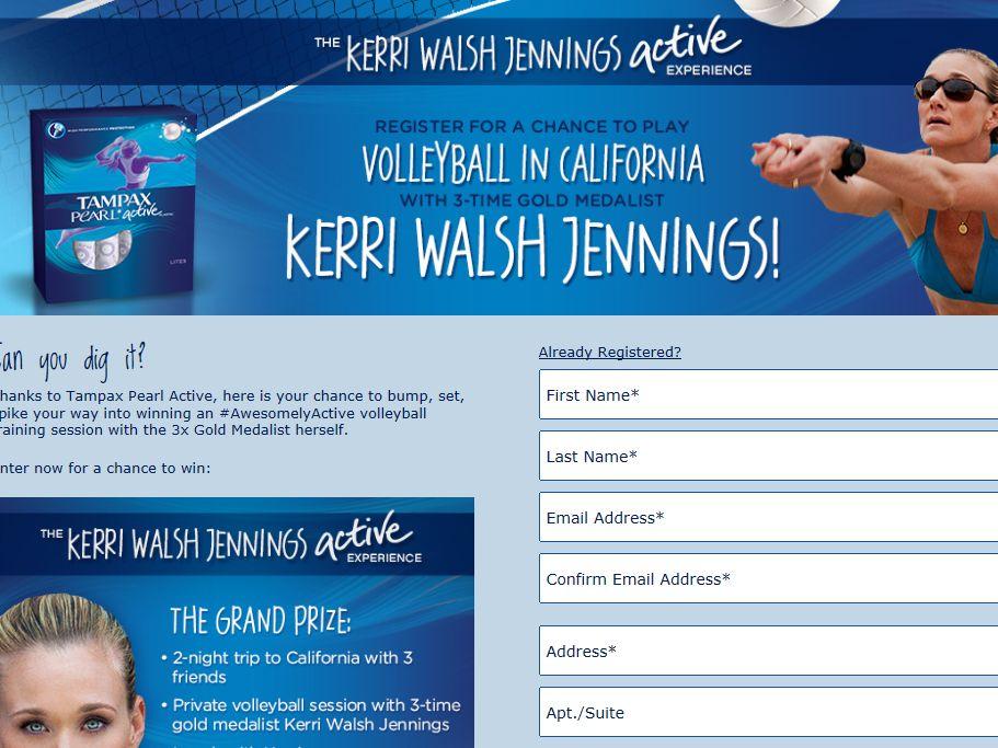 Kerri Walsh Jennings Active Experience Sweepstakes
