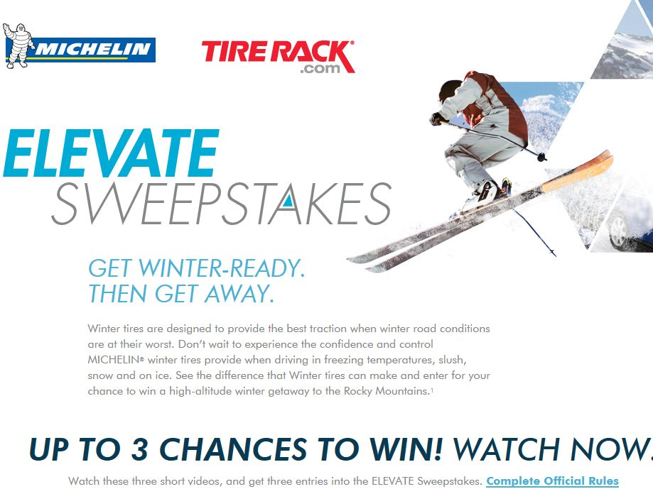 """Michelin """"Elevate"""" Sweepstakes"""
