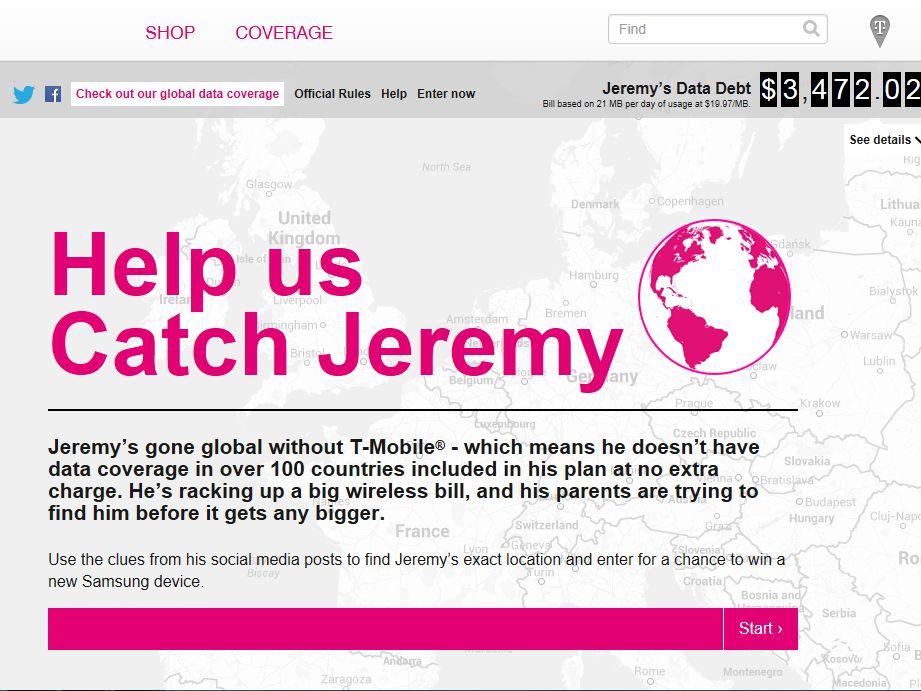 Catch Jeremy Sweepstakes