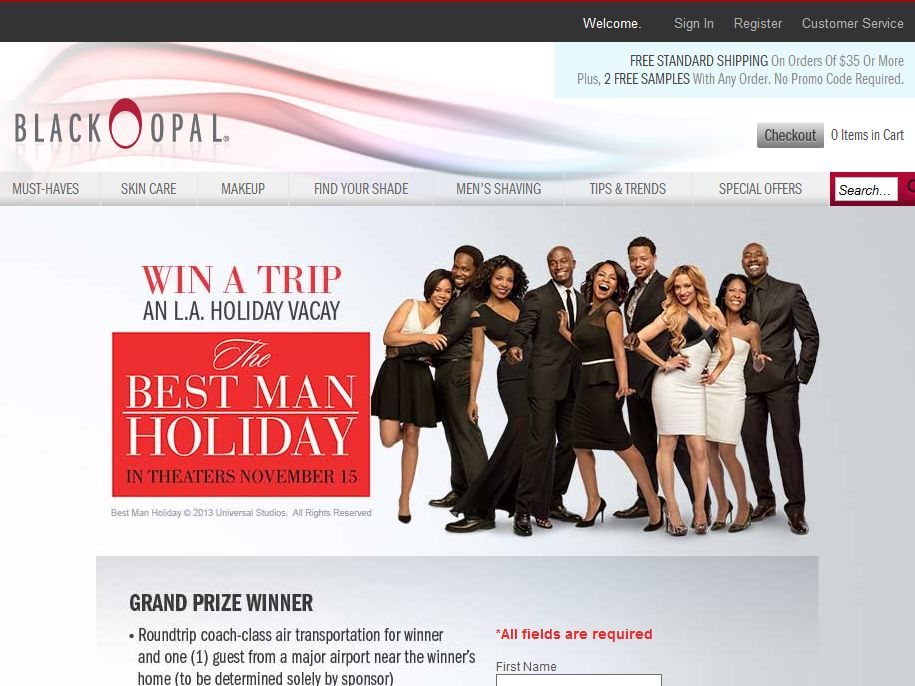 Best Man Holiday Sweepstakes