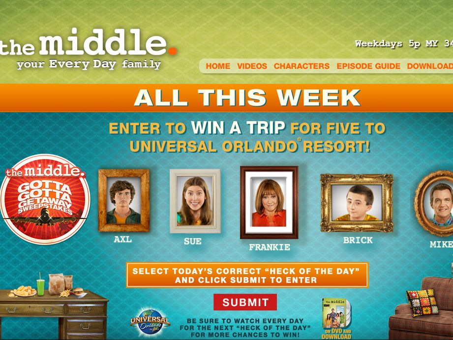 THE MIDDLE – The Gotta Gotta Getaway Sweepstakes