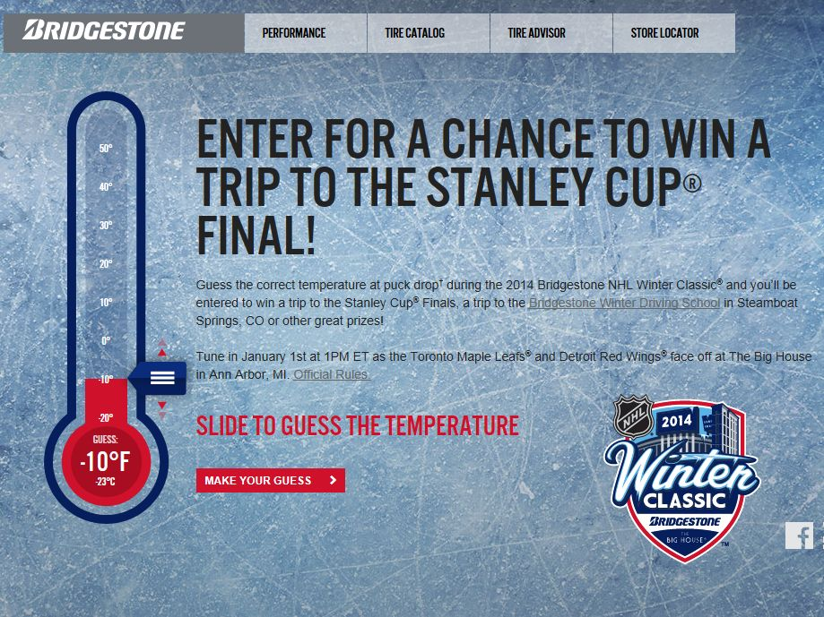 Bridgestone Conquer the Cold Sweepstakes