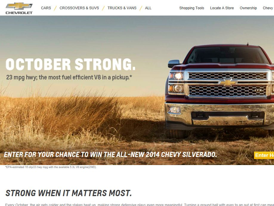 MLB Chevrolet Postseason Sweepstakes