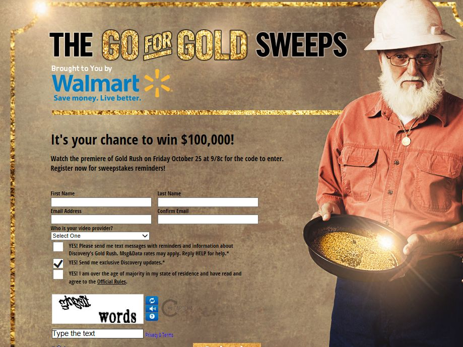 Discovery Channel Go For Gold Sweepstakes