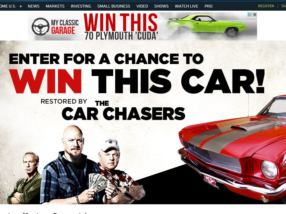 The car chasers sweepstakes