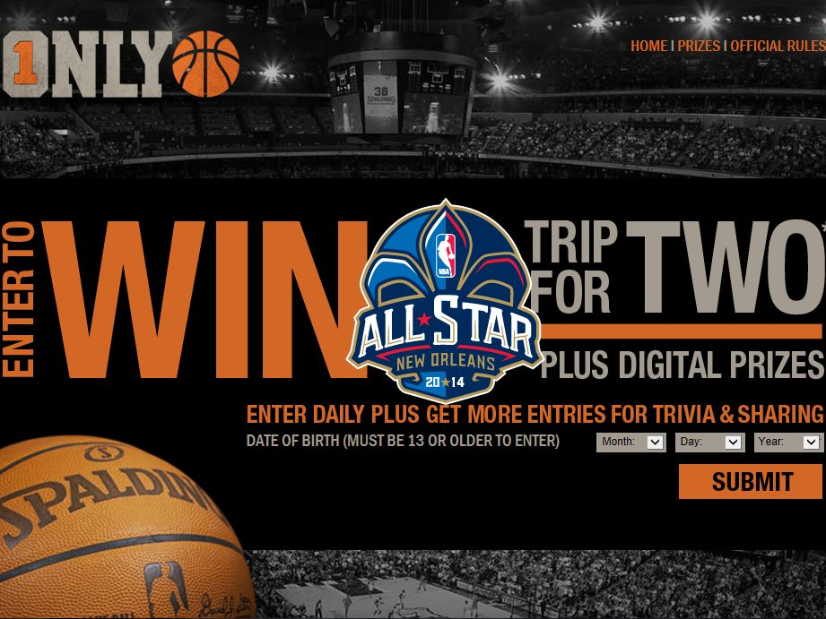 Spalding ONLY1BALL Sweepstakes