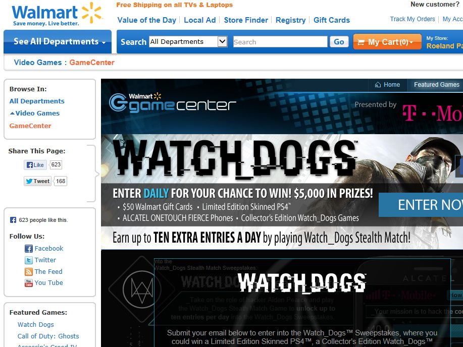 $5,000 T-Mobile/Watch Dogs Sweepstakes