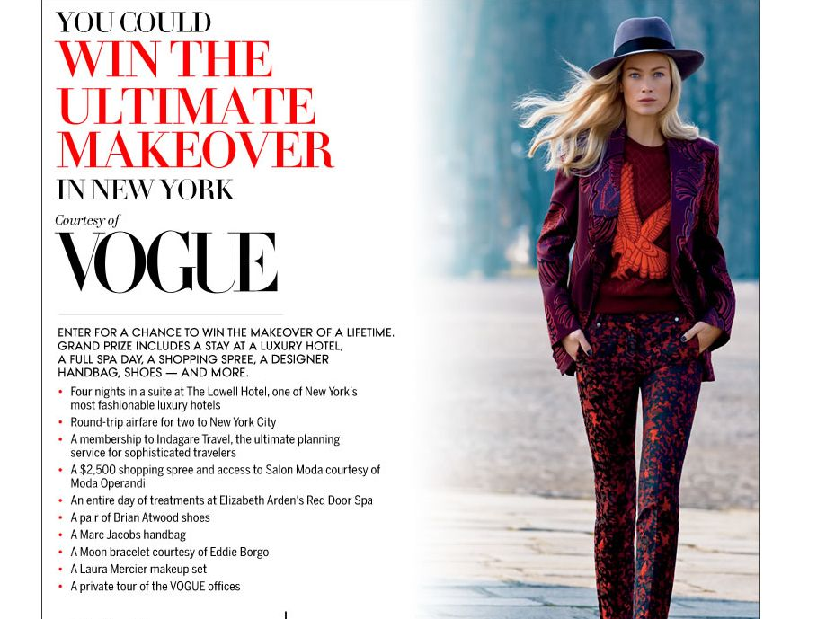 2013 Vogue New York City Makeover Sweepstakes