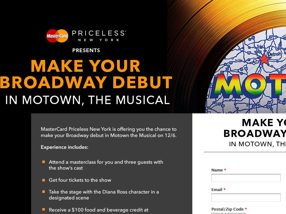"""The MOTOWN THE MUSICAL Experience"" Sweepstakes"