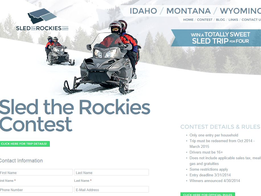 Sled the Rockies Sweepstakes