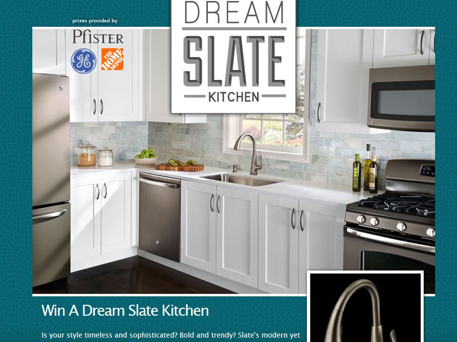 Pfister Dream Slate Kitchen Sweepstakes