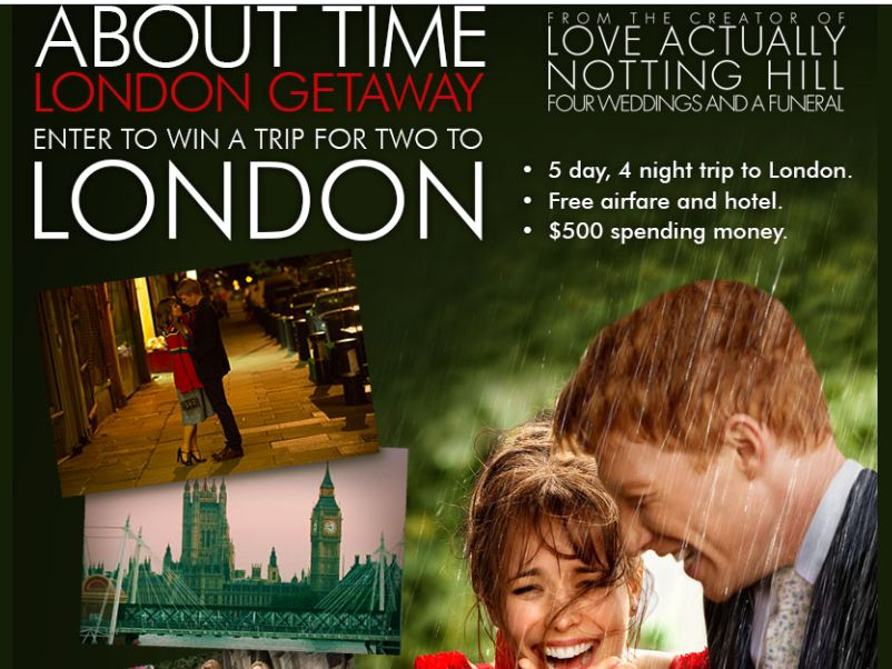 """Cinemark About Time """"London Getaway"""" Sweepstakes"""