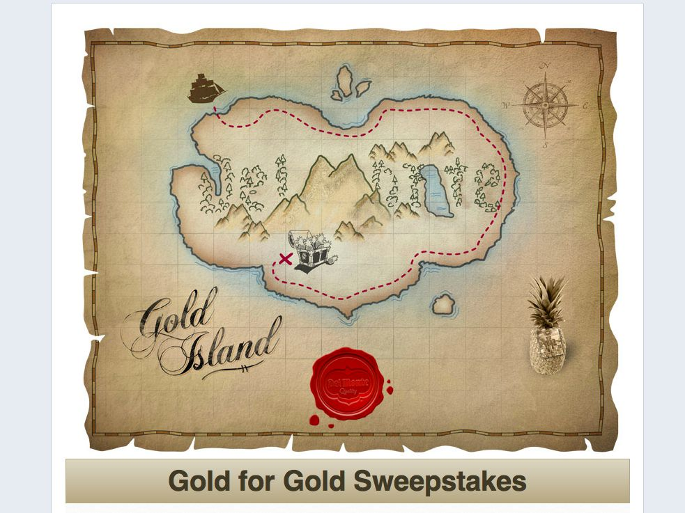Del Monte Fresh Gold for Gold Sweepstakes