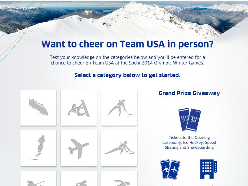The United Airlines Team USA Trivia Sweepstakes