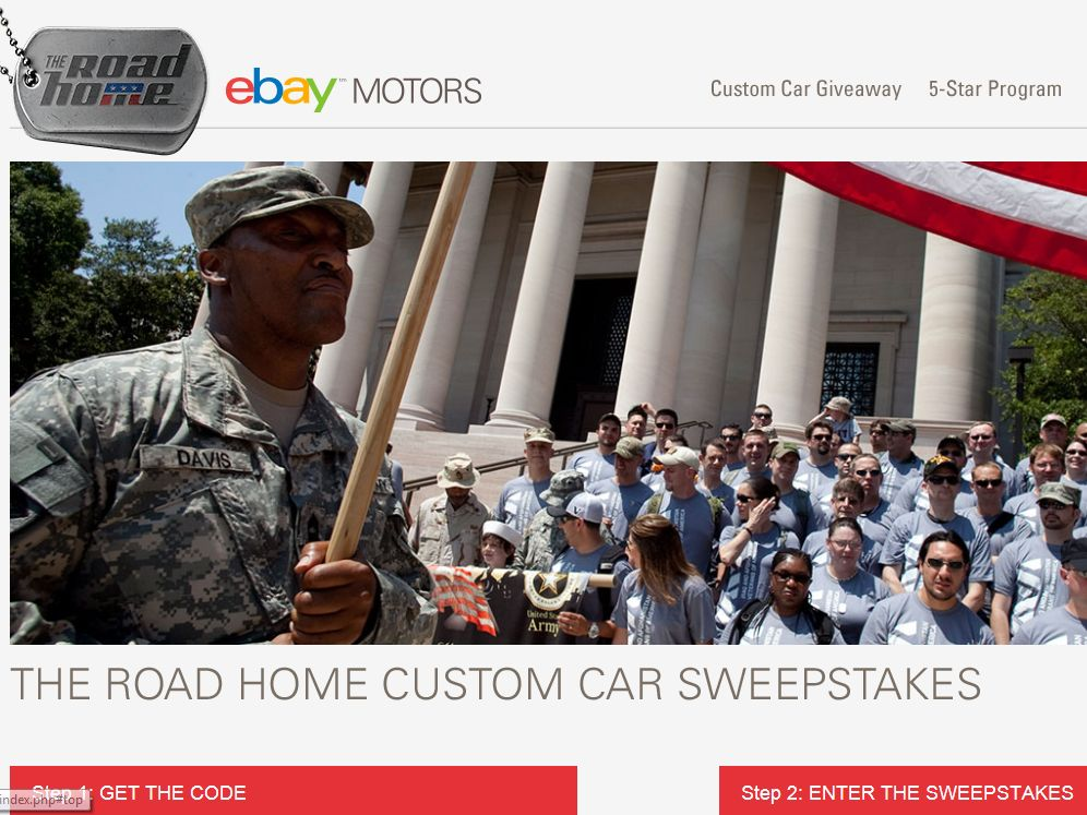 eBay Road Home Sweepstakes
