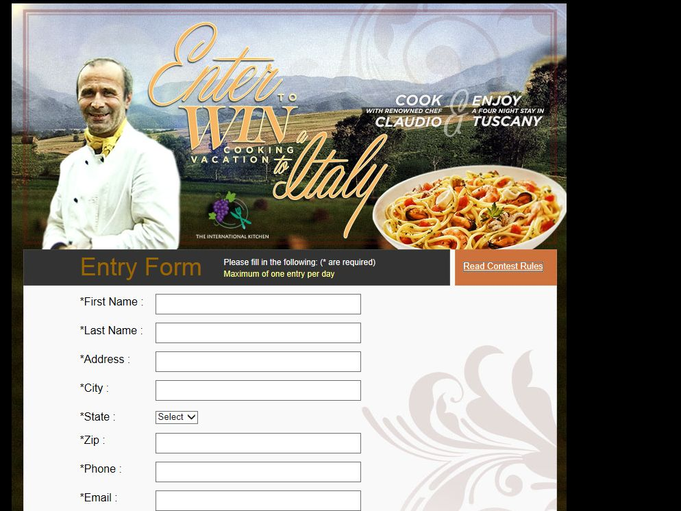 "Saputo Cheese USA Inc. Stella ""Win a Cooking Vacation in Italy!"" Sweepstakes"