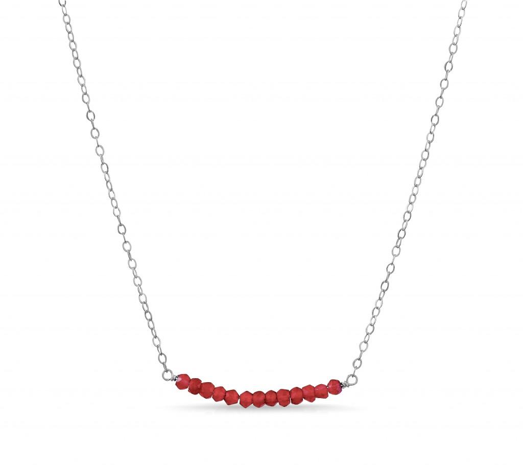 Garnet Bar Necklace by London Manori (value: $72) – 10/31 WW