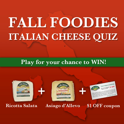 Fall Foodies Italian Cheese Quiz