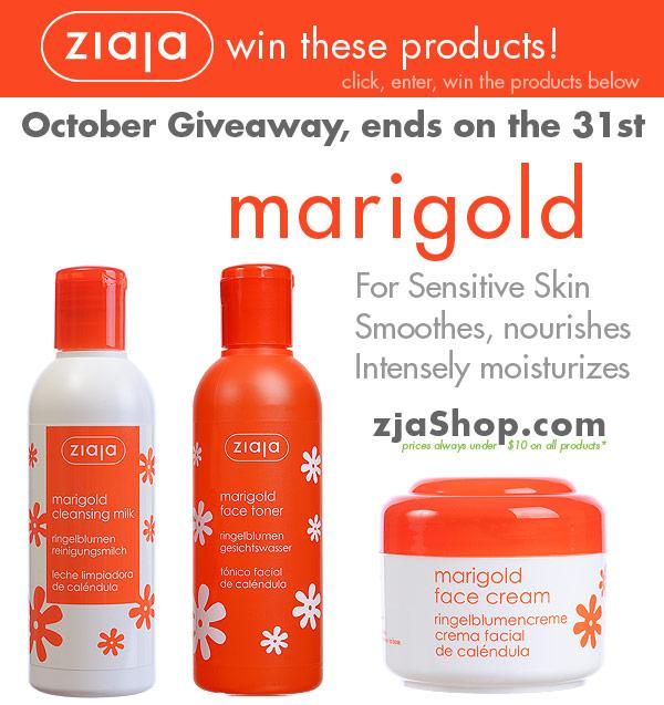 Ziaja Skin Care October 2013 Giveaway
