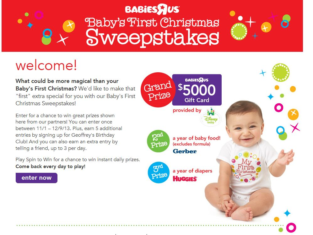 Baby's First Christmas Sweepstakes