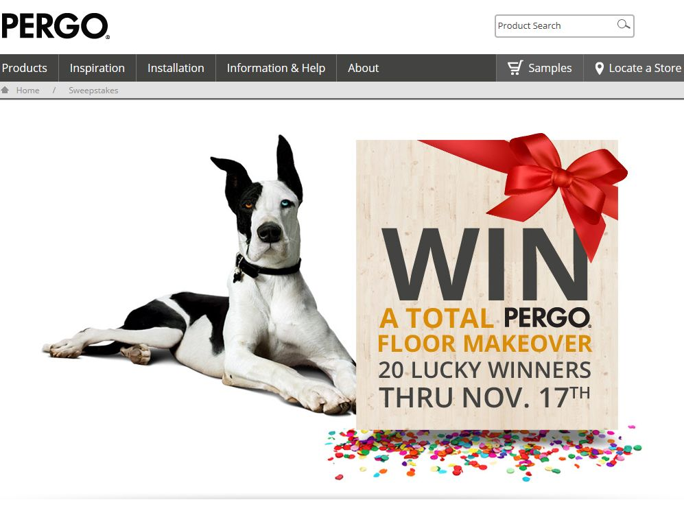 Pergo Floor Makeover Sweepstakes