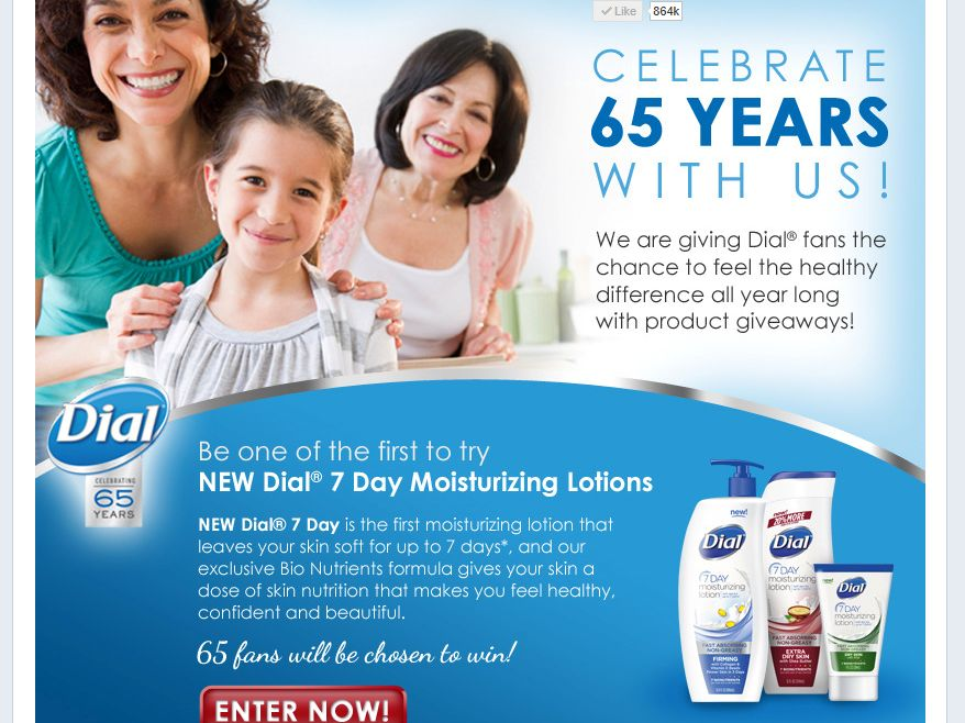 DIAL 65th Anniversary Celebration Sweepstakes