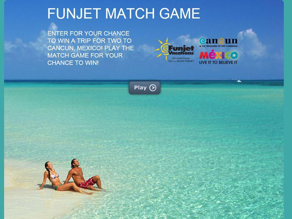 Funjet Match Game Giveaway