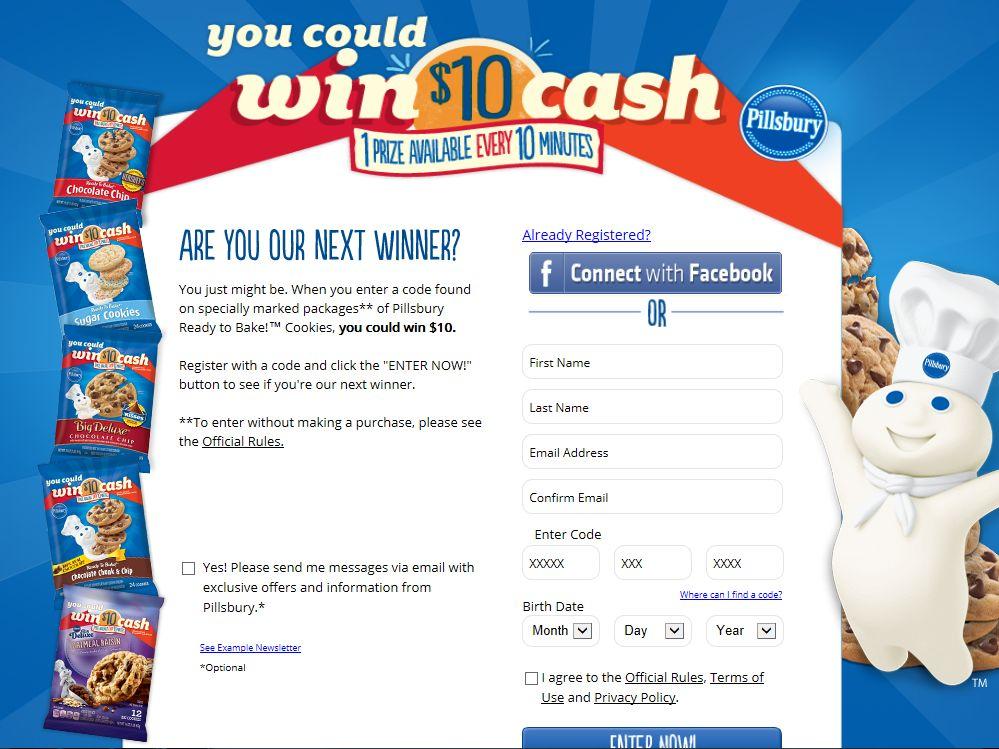 Pillsbury Holiday Cash Instant Win Game