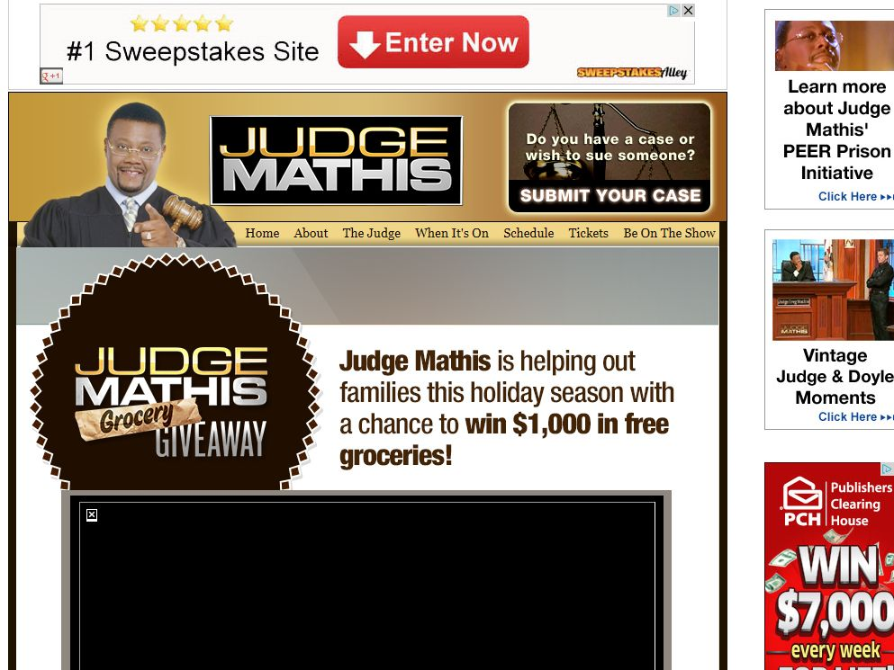 Judge Mathis 'Buys Your Groceries' Sweepstakes