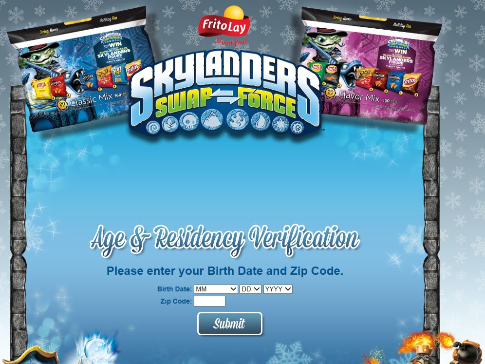 2013 Frito-Lay/Skylanders Rattle Shake Instant Win Game