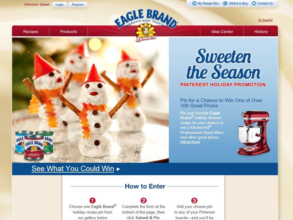 Eagle Brand Sweeten the Season Pinterest Holiday Promotion