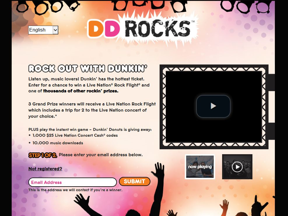 Dunkin' Rocks Fall Sweepstakes