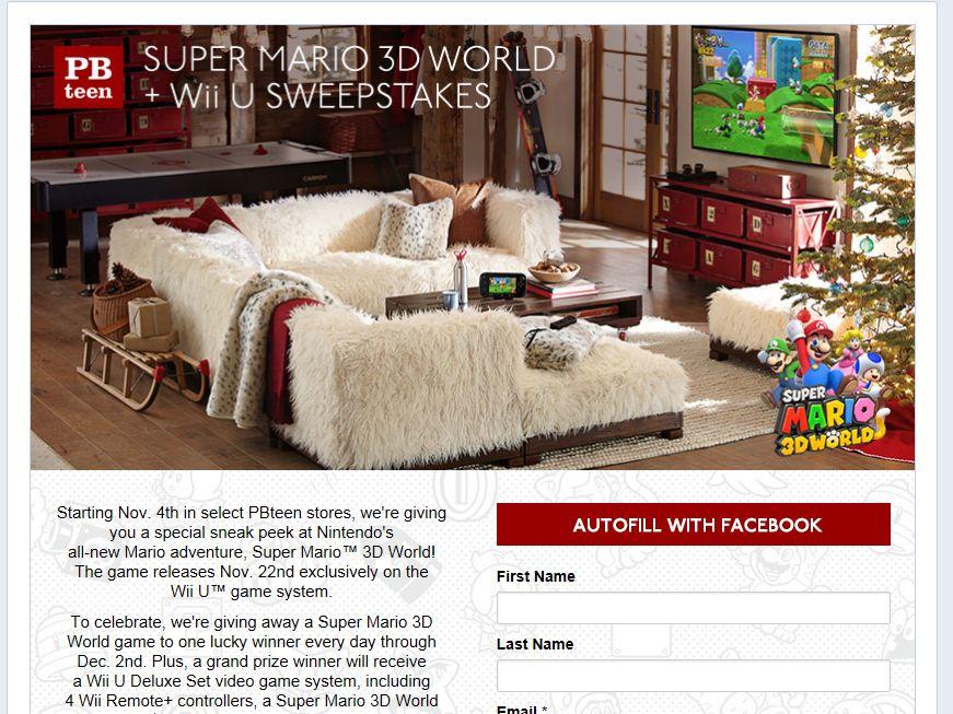 PBteen Super Mario 3D World + Wii U Sweepstakes