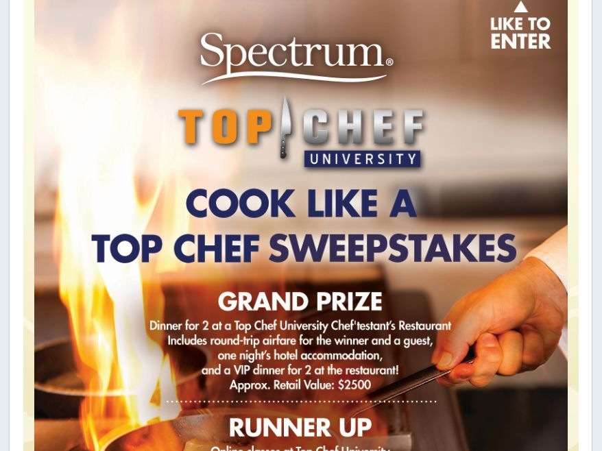 Spectrum 'Cook Like A Top Chef' Sweepstakes