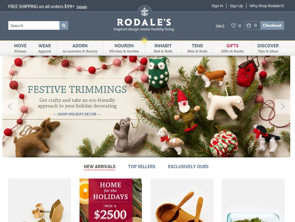 Rodale's Home For The Holidays Sweepstakes