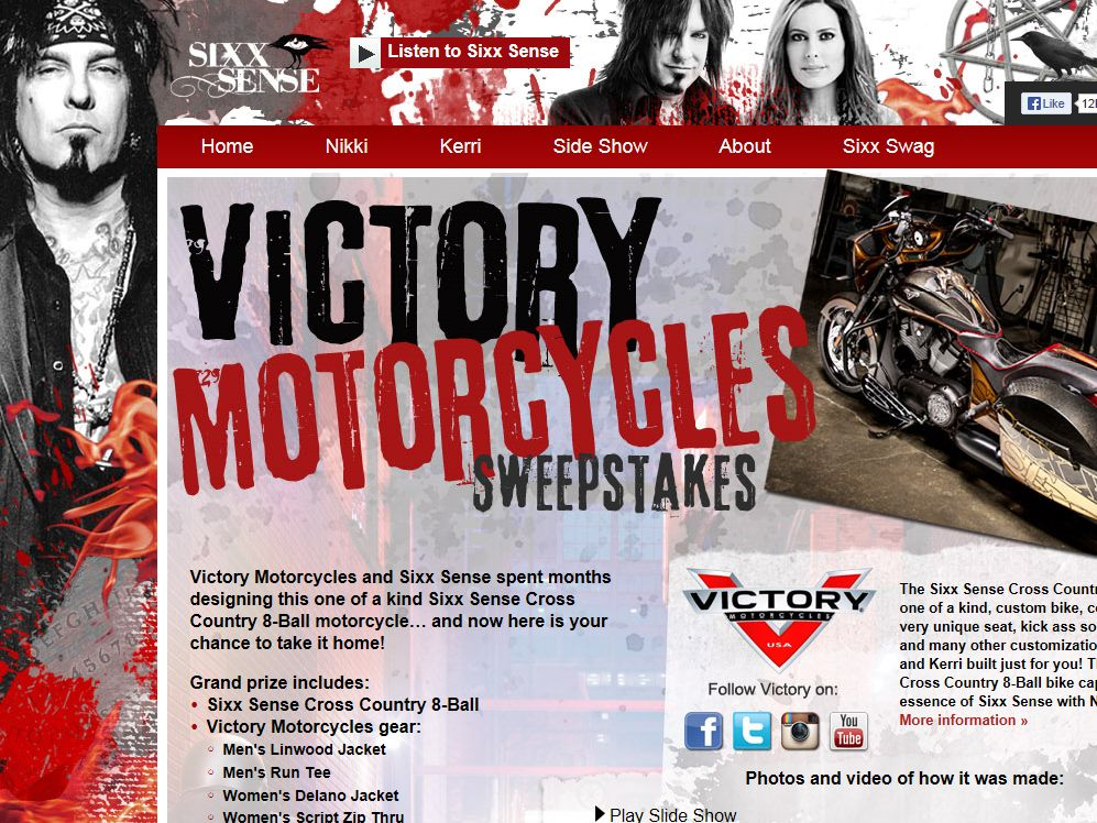 Sixx Sense's Cross Country 8-Ball Contest, Presented by Victory Sweepstakes