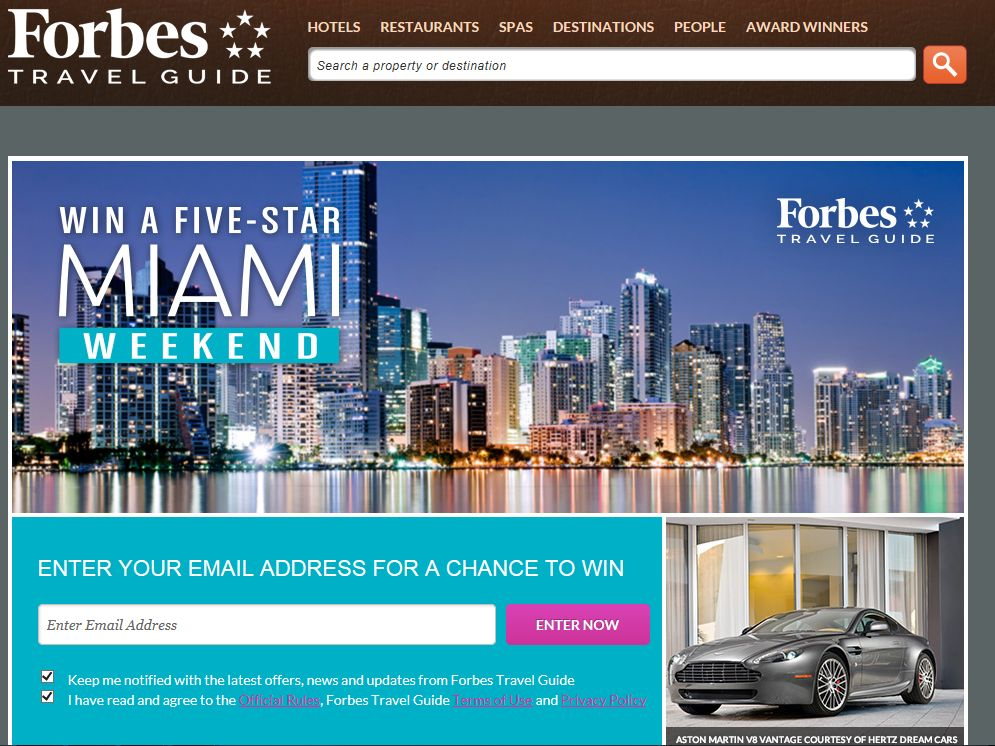 Forbes Win a Five Star Miami Weekend Sweepstakes