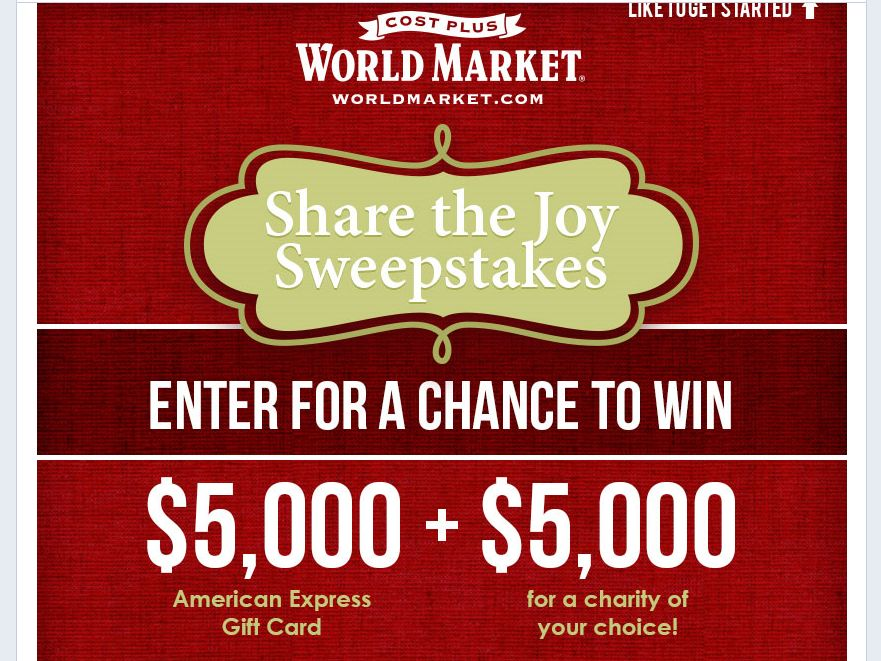 World Market's Share The Joy Sweepstakes