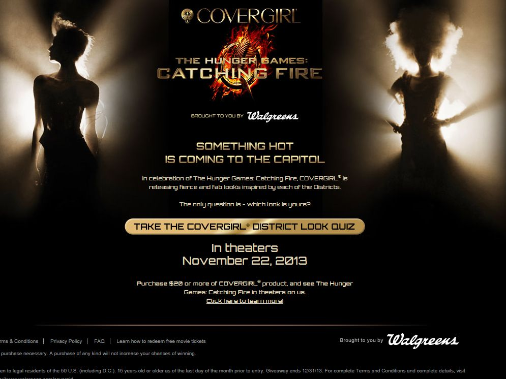 Hunger Games District Personality Quiz Sweepstakes