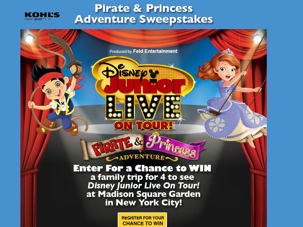Pirate and Princesses Adventure Sweepstakes
