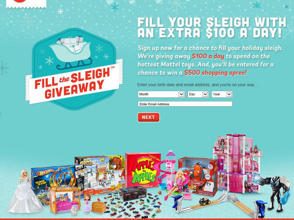 Mattel Fill the Sleigh Giveaway