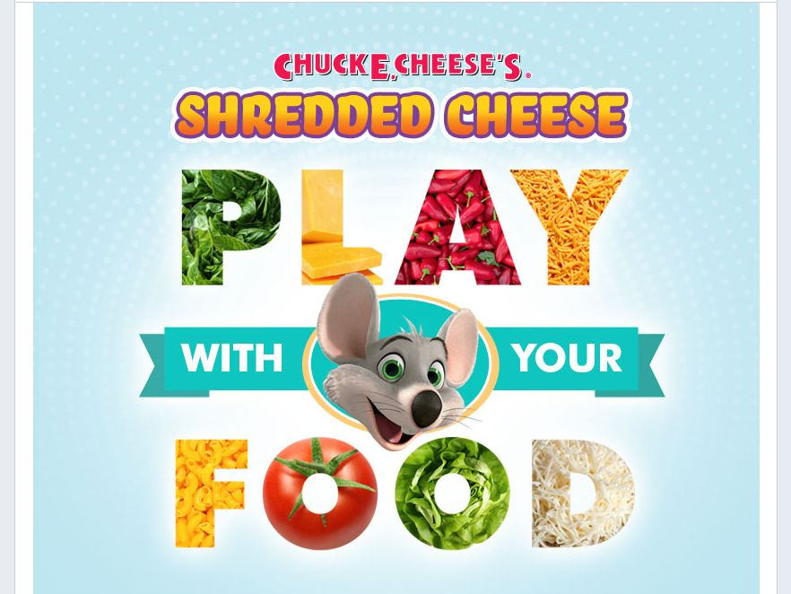 Chuck E. Cheese Play With Your Food Giveaway