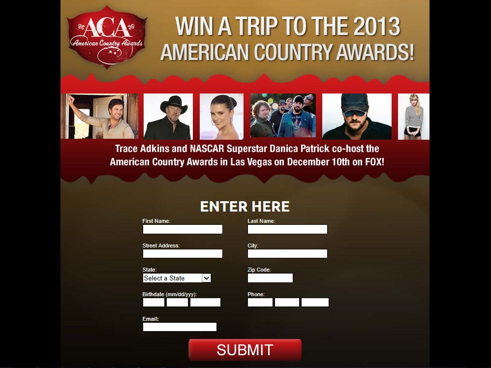 American Country Awards Promotion