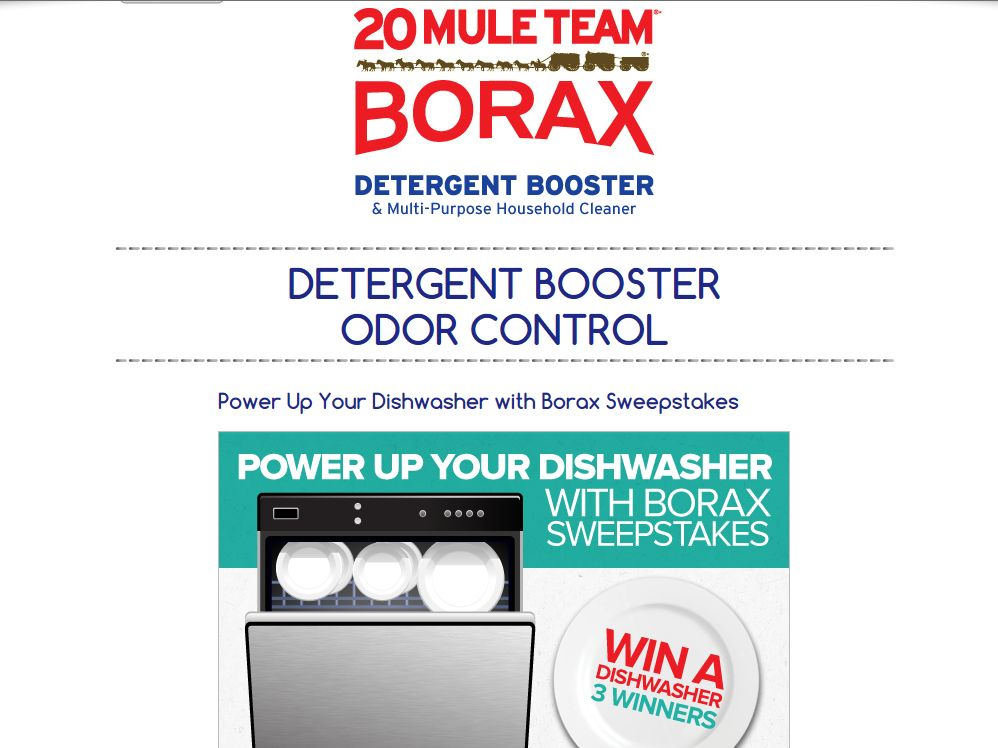 Power Up Your Dishwasher with Borax Sweepstakes