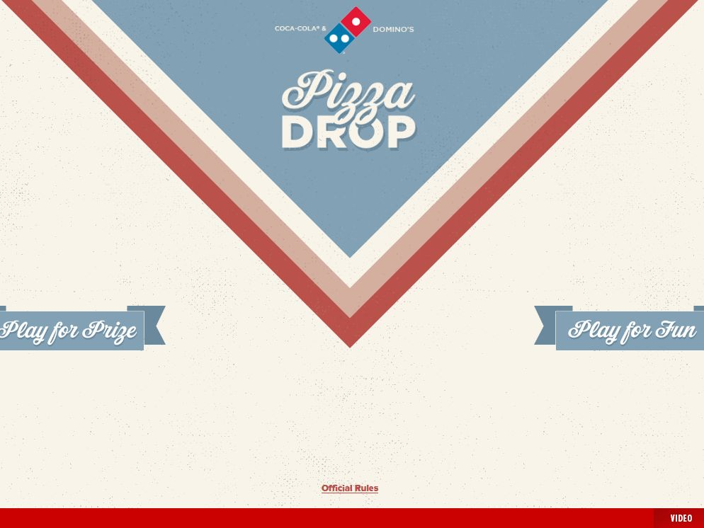 Coca-Cola and Domino's Pizza Drop Game Sweepstakes