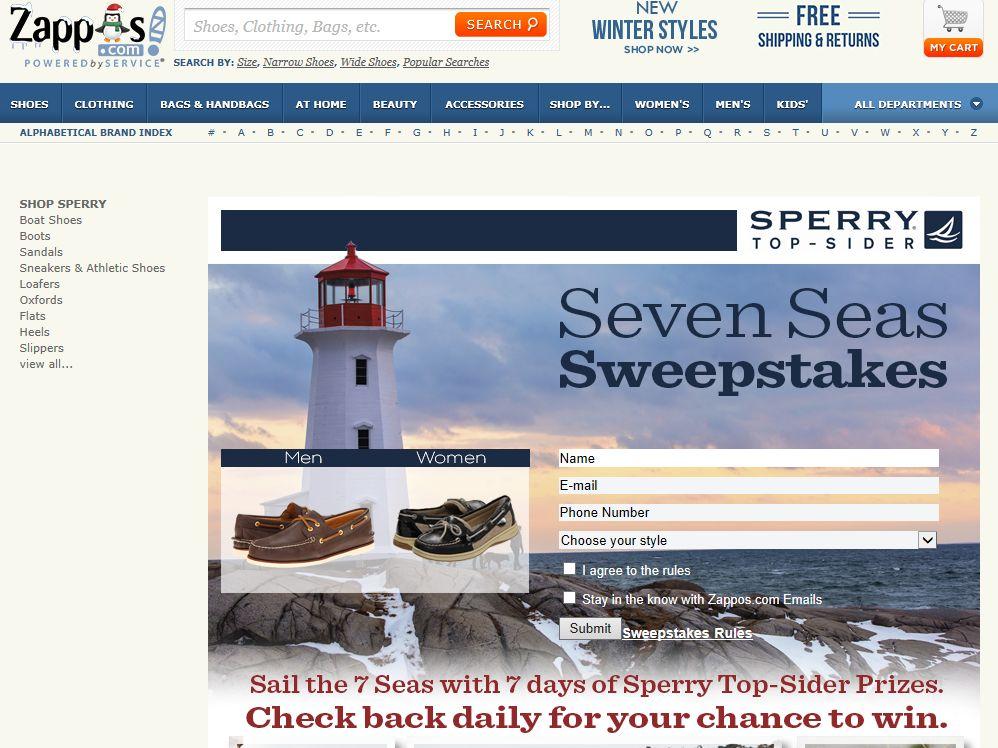 Sperry 7 Seas Sweepstakes