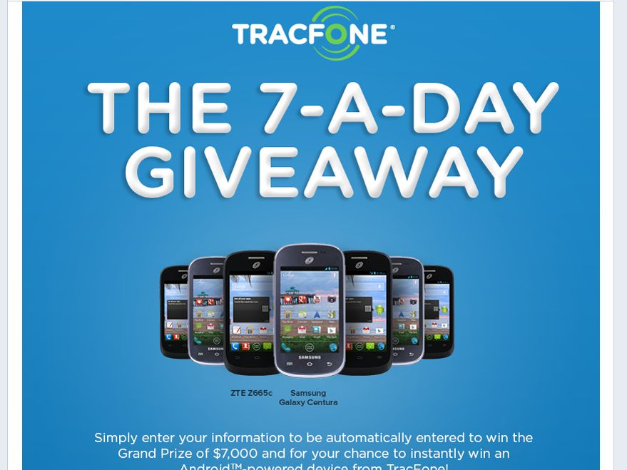 "TracFone ""Lucky 7"" Sweepstakes"