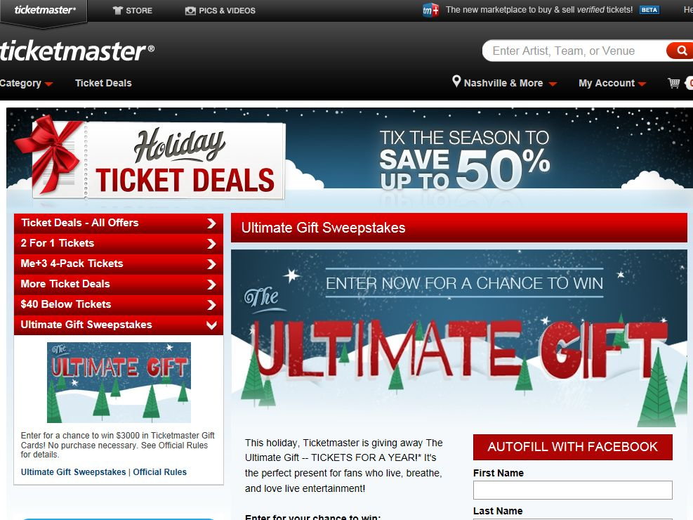 Ticketmaster Ticket Deals: The Ultimate Gift Giveaway